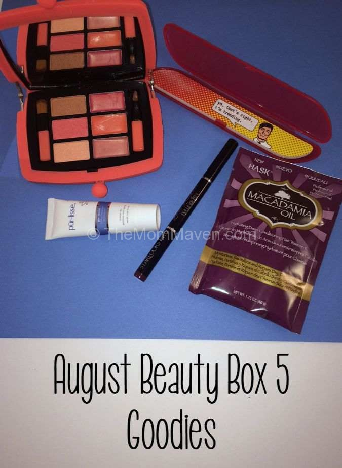 August Beauty Box 5 shipment contained over $38 of beauty supplies for only $12!