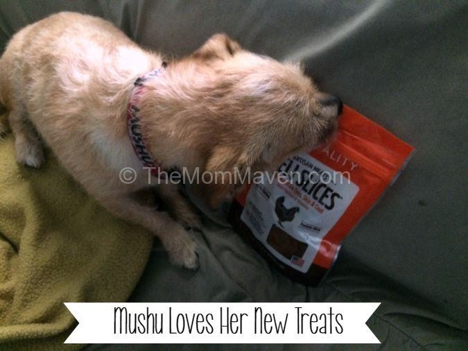 Mushu loves her new dog treats-compressed