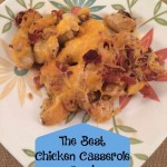 The Best Chicken Casserole Ever-the perfect combination of loaded baked potatoes and chicken with hot sauce you will ever eat.