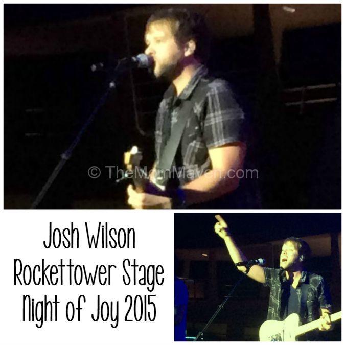 Josh Wilson on the Rockettower Stage at Night of Joy Walt Disney World