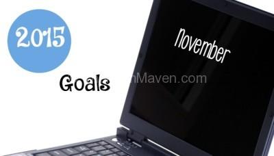Goals for November 2015