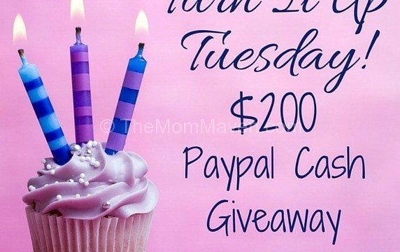 Turn it Up Tuesday $200 Cash Giveaway