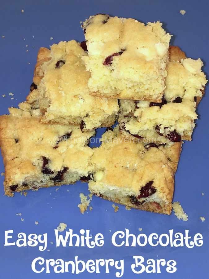Easy white chocolate cranberry bars