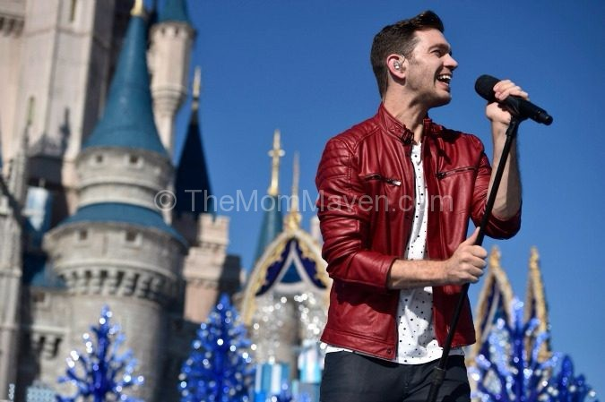 Andy Grammer performing at the Disney Parks Unforgettable Christmas Celebration.