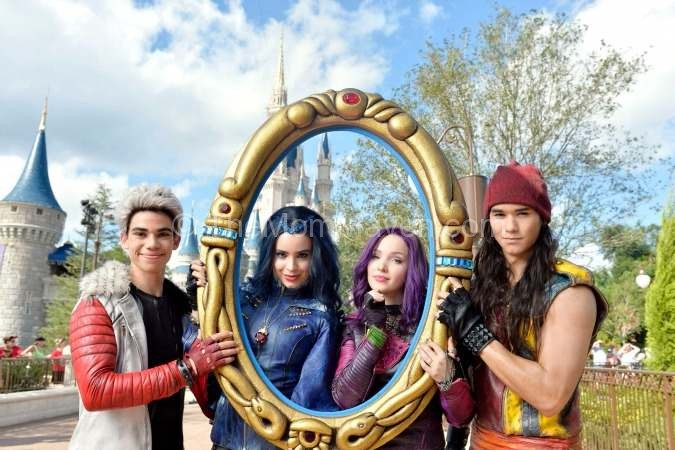 Descendants cast at the Disney parade taping
