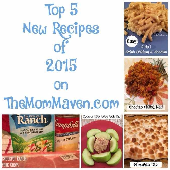 Top 5 new recipes of 2015