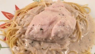 Crockpot Garlic Alfredo Chicken