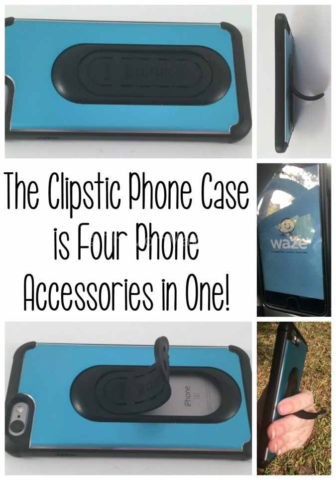 The Clipstic Phone Case is 4 cell phone accessories in one-compressed