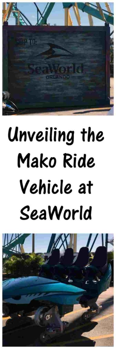 Unveiling the Mako ride vehicle at SeaWorld