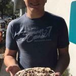 Aaron and his oreo cookie ice cream cake