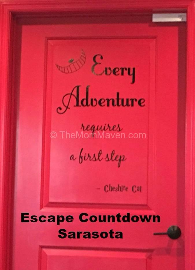 Mad Hatter Room Door- Esacpe Countdown Sarasota