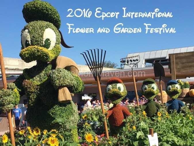 2016 Epcot International Flower and Garden Festival Huey, Louie and Dewey topiaries