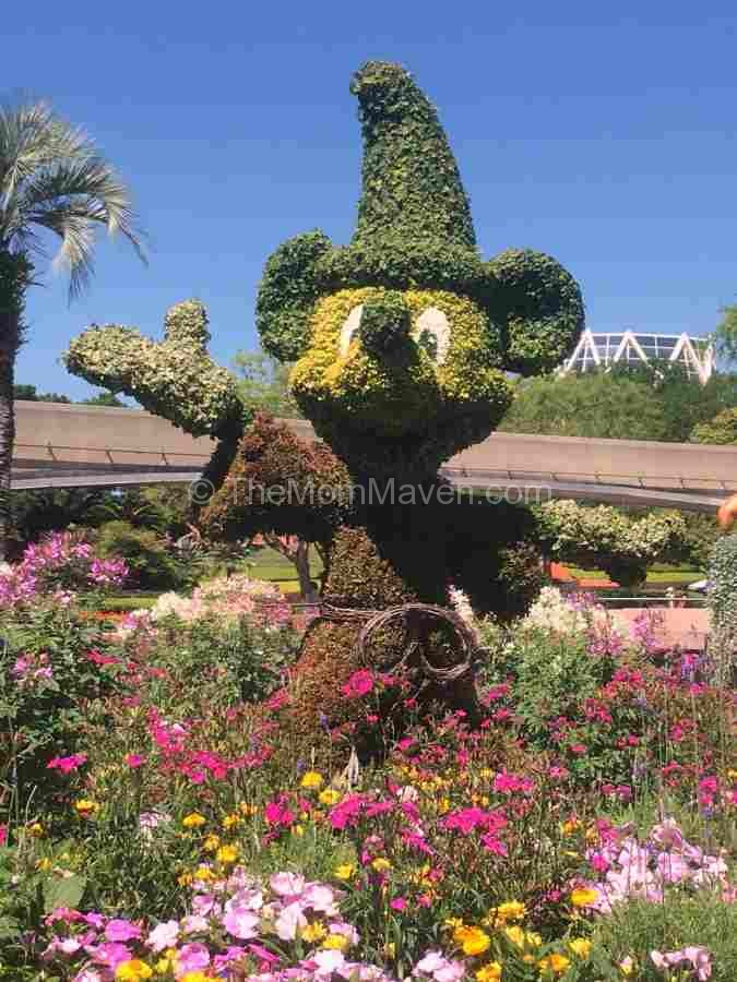 2016 Epcot International Flower and Garden Festival Sorcerer Mickey Topiary