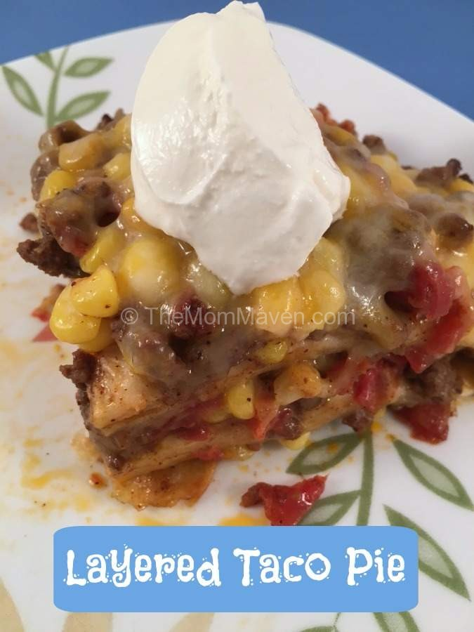 Layered Taco Pie Recipe