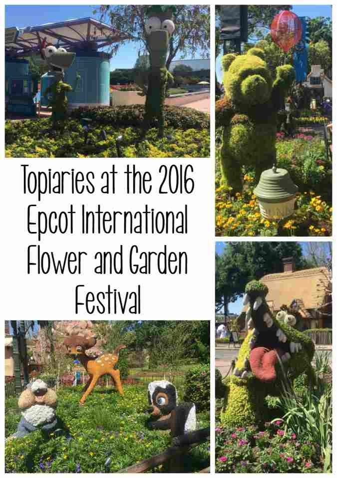 Topiaries at the 2016 Epcot International Flower and Garden Festival
