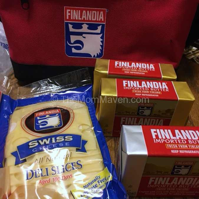 The small sampling of Finlandia Cheese and Butters that arrived on my doorstep.