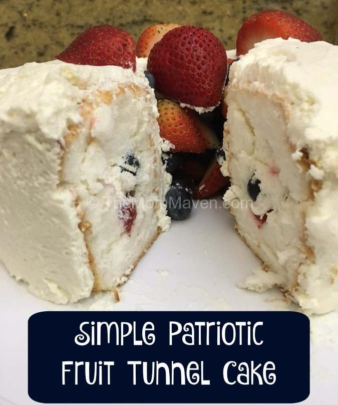 Make this simple Patriotic dessert, a fruit tunnel cake, for your next holiday picnic.