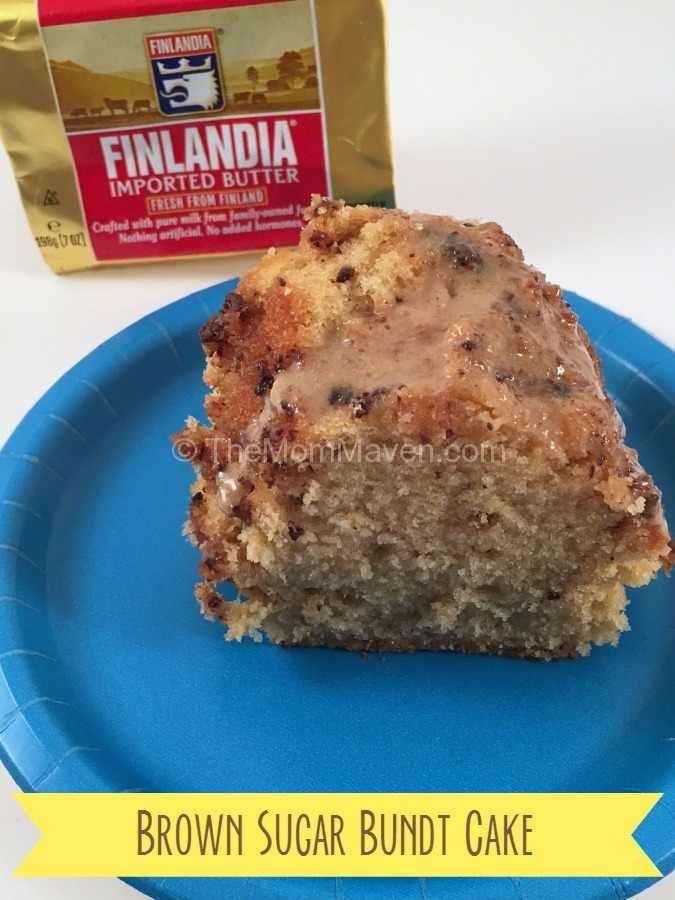 This Brown Sugar Bundt Cake made with imported Finlandia Butter is a light and delicious treat for your family.