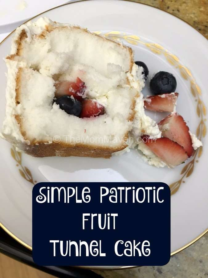 Make this simple Patriotic dessert, a fruit tunnel cake, for your next 4th of July picnic.