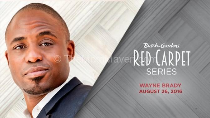 Wayne Brady Busch Gardens Red Carpet Series
