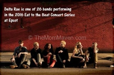 """Delta Rae (""""Bottom of the River"""") will perform Nov. 4-6, 2016 at America Gardens Theatre at 5:30, 6:45 and 8 p.m. during the 21th Epcot International Food & Wine Festival """"Eat to the Beat"""" concert series. Performances are included with Epcot admission."""