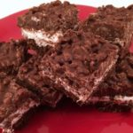Fluffernutter Brownie Crunch Bars