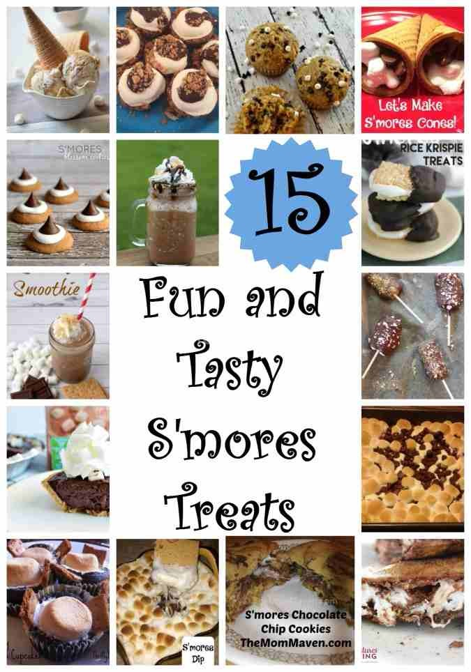 15 fun and tasty s'mores treats for you to enjoy year round.