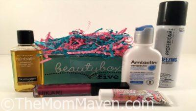 December Beauty Box 5 Subscription Box contents.