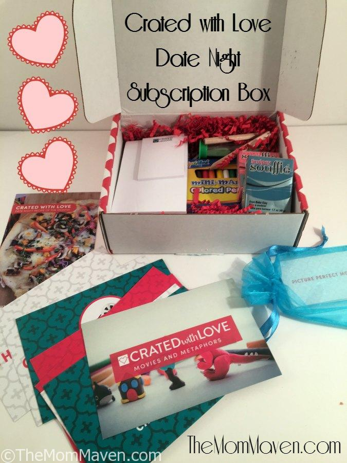 Crated with Love Metaphors and Movies Date Night Subscription Box