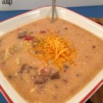 Homemade Bacon Cheeseburger soup crockpot recipe.