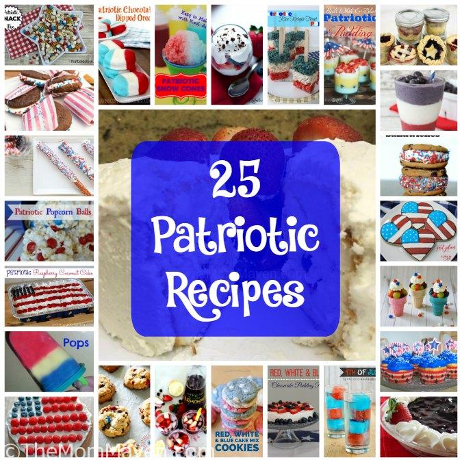 Now is the time to build up your arsenal of Patriotic Recipes for your upcoming Memorial Day, 4th of July, and other patriotic gatherings.