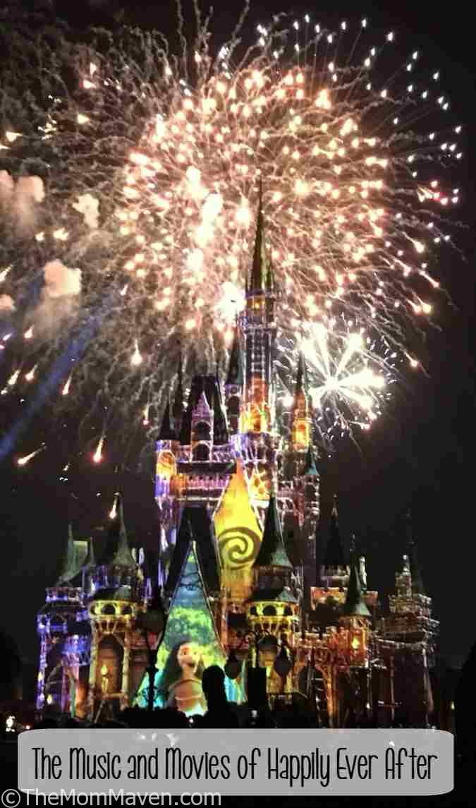 Happily Ever After at Walt Disney World Magic Kingdom is a seamless melding of music and movies, projection and pyrotechnics.