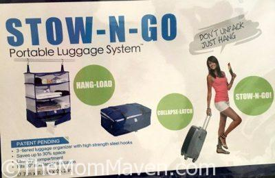 Save space, stay organized, keep clothes wrinkle-free and clean with the Stow-N-Go Portable Luggage system.