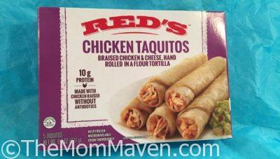 Why not grab some Red's All-Natural Taquitos from your grocer's freezer to have on hand? Red's products are made with 100% all-natural ingredients including antibiotic-free beef & chicken, and no preservatives. These taquitos have 10g of protein too!