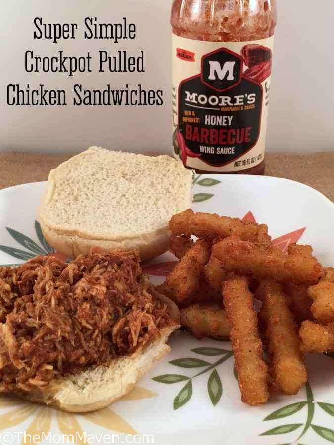 This Super Simple Crockpot Pulled Chicken Recipe is a set it and forget it type of meal, perfect for busy families.