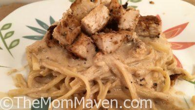Cajun Chicken with Linguine in Cream Sauce