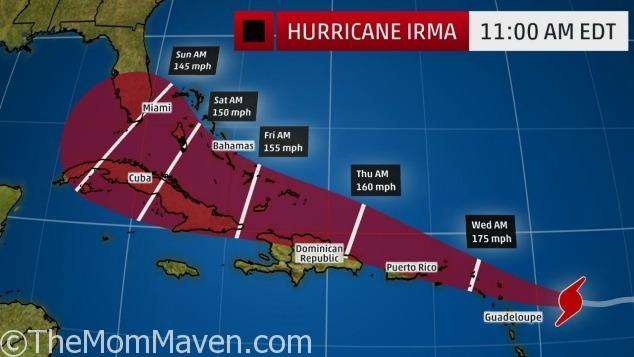 Hurricane Irma 11am on September 5, 2017