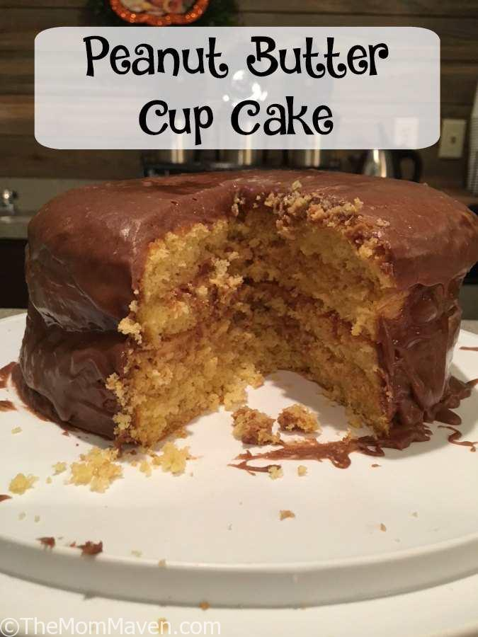 This easy Peanut Butter Cup cake recipe combines the flavors of chocolate and peanut butter with a yellow cake for a delightful dessert.