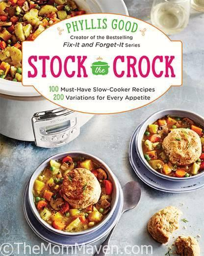 Phyllis Good's newest creation Stock the Crock includes 100 must-have slow-cooker recipes and 200 variations for every appetite.The recipes range from Basic Chicken and Salsa, to Lasagna in a Soup Bowl, to Pumpkin Spice Creme Brulee.
