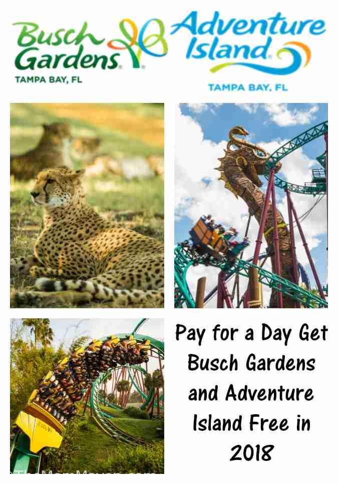 The two-park Fun Card offers unlimited admission to Busch Gardens Tampa Bay through Dec. 31, 2018 and to Adventure Island through the 2018 season.