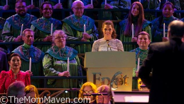The Candlelight Processional at Epcot is an amazing, Biblical account of the Christmas story with a celebrity narrator, mass choir, and a 50 piece orchestra.