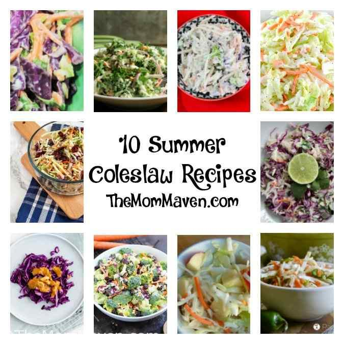 Looking for some new, refreshing summer side dishes and salads? Here are 14 summer coleslaw and chopped salad recipes for you to enjoy.. #recipes #summerrecipes #coleslawrecipe #choppedsalads