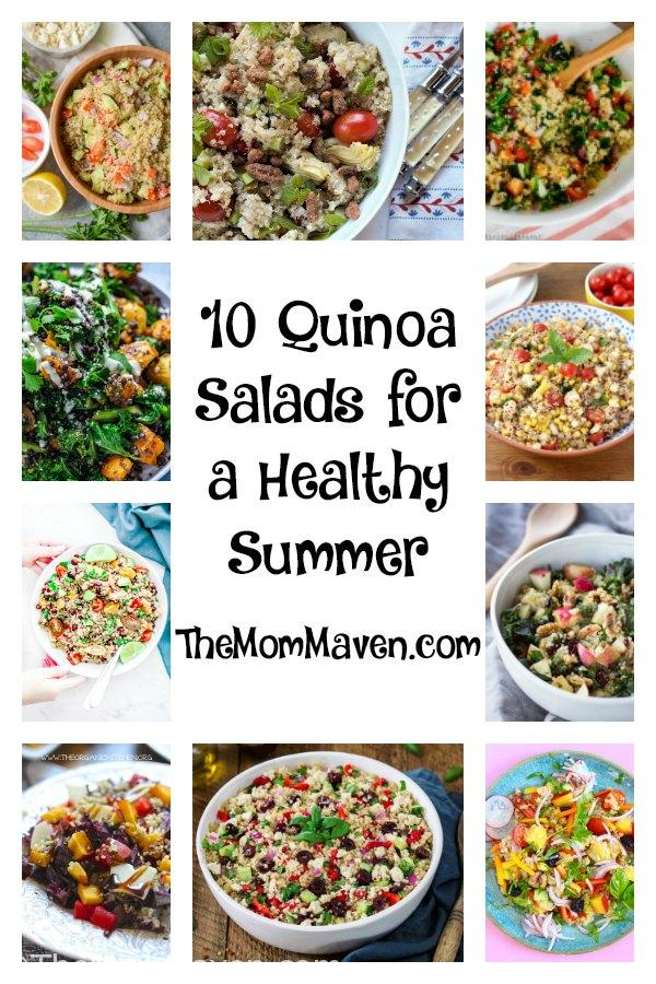 Welcome to part 6 of my Summer Side Dish Series. So far we have covered Chopped Salads and Coleslaws, Potato Salads, Pasta Salads, Side Dishes, and Fruit Salads. Today we have 10 Quinoa Salads for a Healthy Summer.