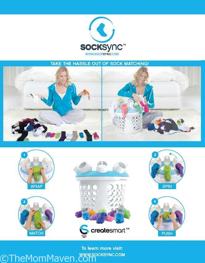 SockSync Sock Sorter is a lightweight and ergonomically designed laundry tool to perfectly fit into your laundry day routine.