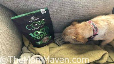 If your pup is grain free like Mushu is, your pup will love the Wellness CORE Grain Free 100% Turkey Freeze Dried Natural Dog Treats.