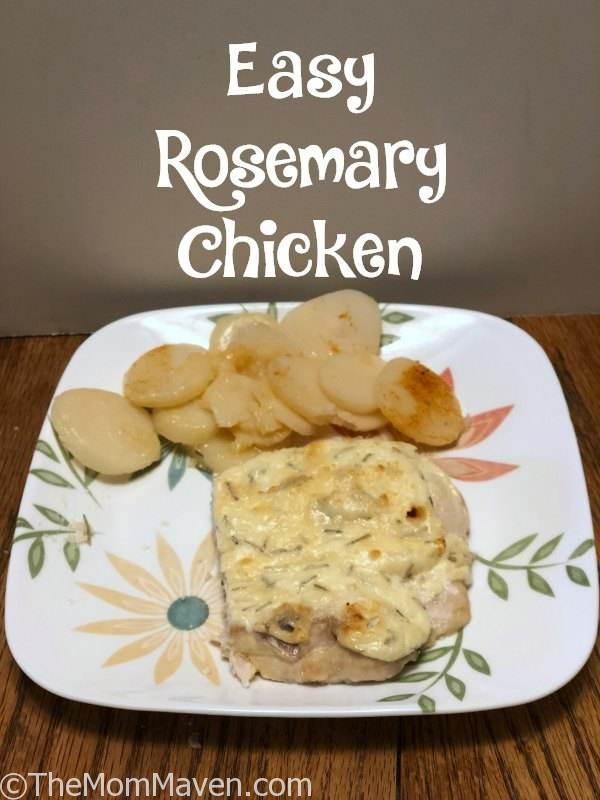I'd had rosemary on my mind for days so I created this easy rosemary chicken recipe with just 5 kitchen staples.