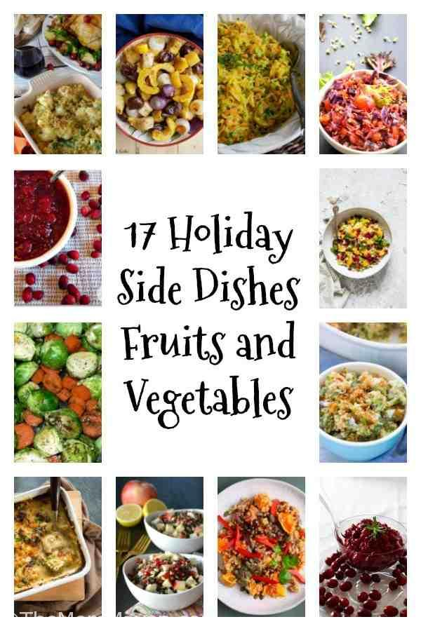 Since we all are so busy during the holiday season, I gathered these 17 holiday side dishes for you to help in your holiday meal planning.