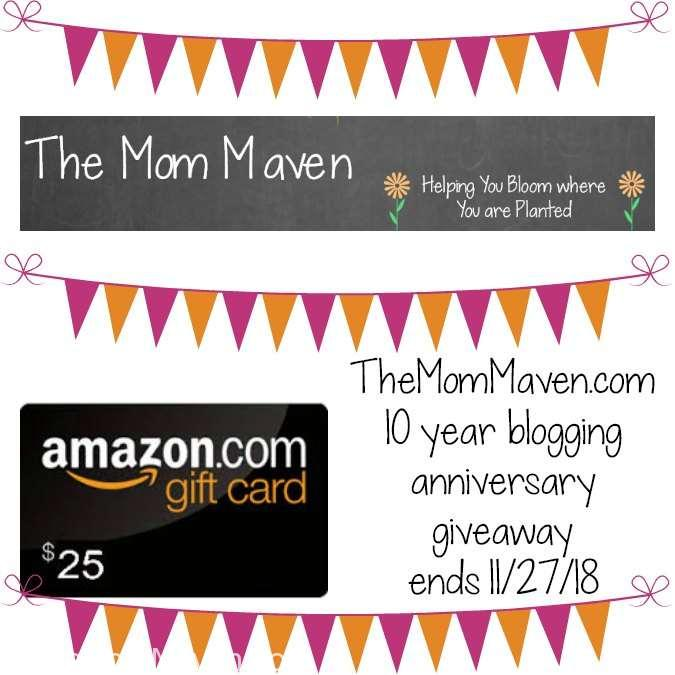 It's my blogaversary and to celebrate I am giving away one $25 Amazon e-gift card.