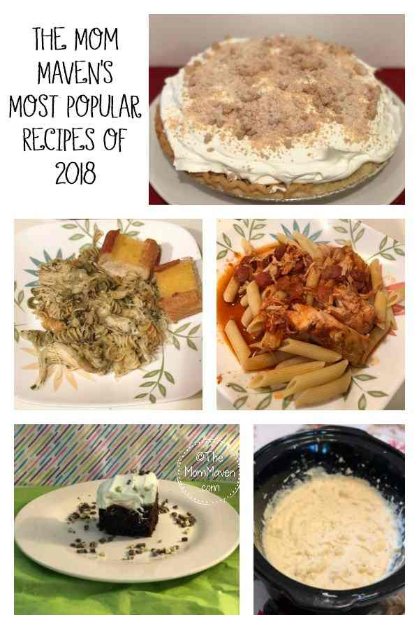 Enjoy this countdown of the 5 most popular recipes of 2018 and the 5 most popular recipes of all time on The Mom Maven. I hope you find some new recipes!