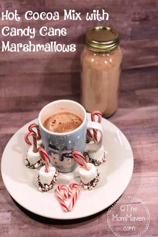 Need a last minute hostess gift? Whip up a batch of this Hot Cocoa Mix with Candy Cane Marshmallows and you will be all set,